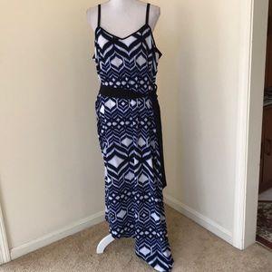 NWT! Lane Bryant  SZ22/24 blue asymmetrical dress